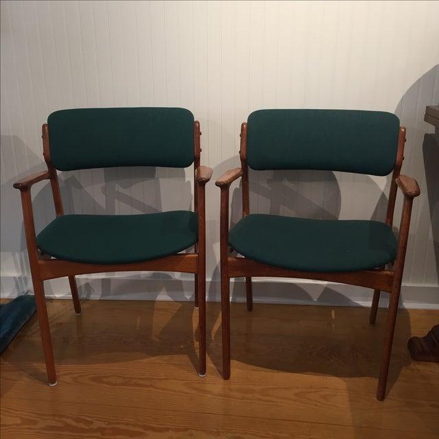 Danish Modern Erik Buch Chairs - Set of Two - Image 2 of 11