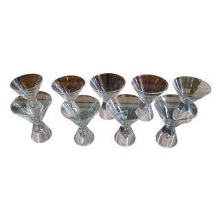 Steuben Martini Glasses - Set of 9