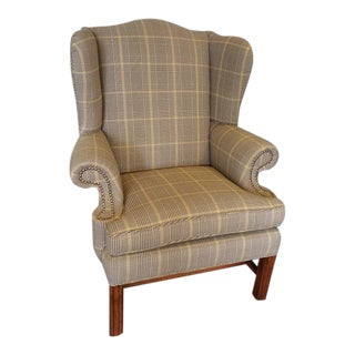 Classic English Library Wingback Chair