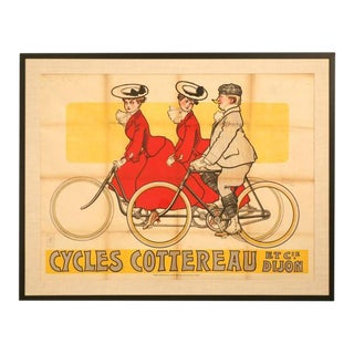 Circa 1905 Rene Vincent French Bicycle Poster