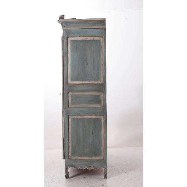 French Early 19th Century Painted Cherry Armoire - Image 10 of 10