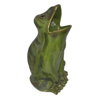 Vintage 1960  Italian Huge Frog Umbrella Stand