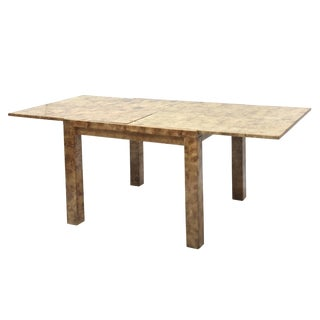 "Fine American Modern ""Goatskin"" Game Table/Extension Dining Table, Karl Springer"