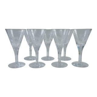 Etched Wildlife Vintage Wine Glasses - Set of 7
