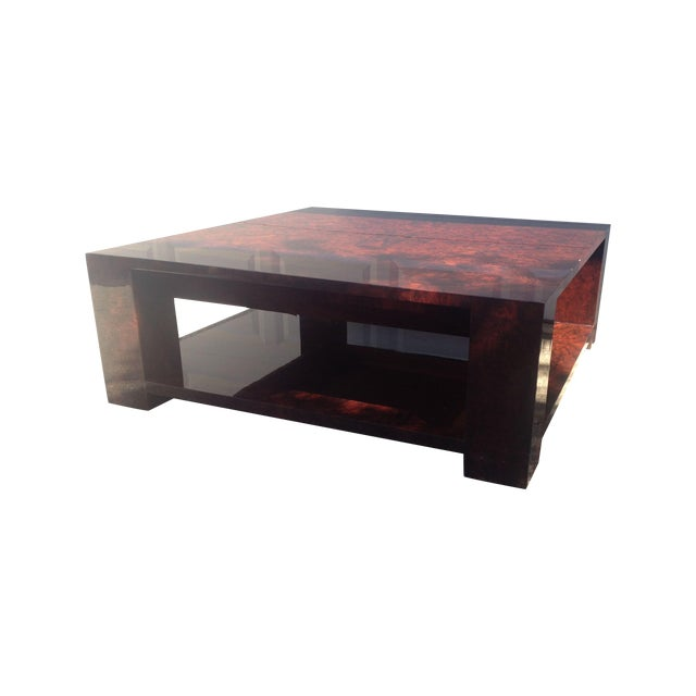 Modern Burled Wood Coffee Table Chairish
