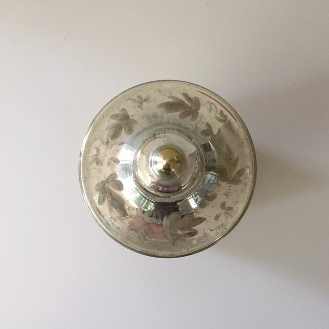Antique Mercury Glass Covered Candy Dish - Image 3 of 5