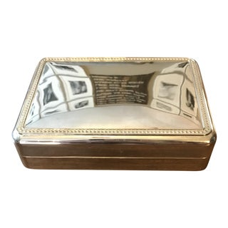 Mid-Century Silver Plate Jewelry Box by International Silver