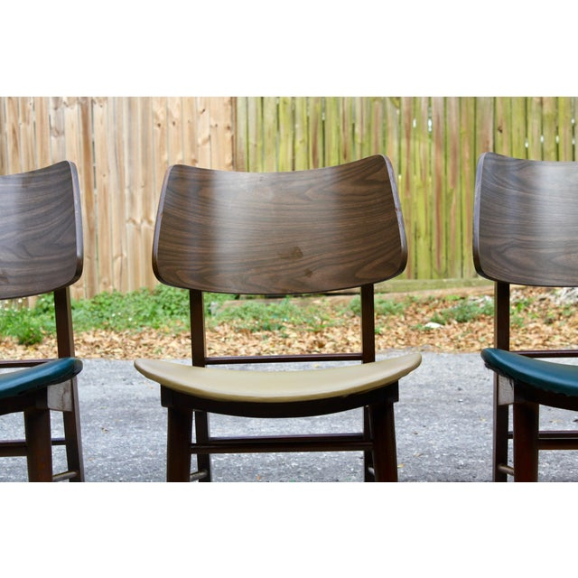 Mid-Century Modern Clam Shell Chairs - Set of 3 - Image 3 of 8