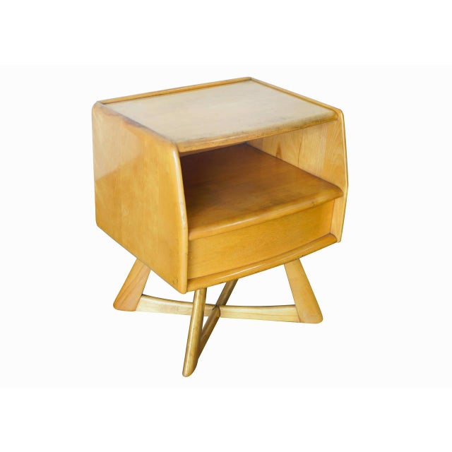 Heywood Wakefield M778 Sculptura Nightstand - Pair - Image 2 of 7