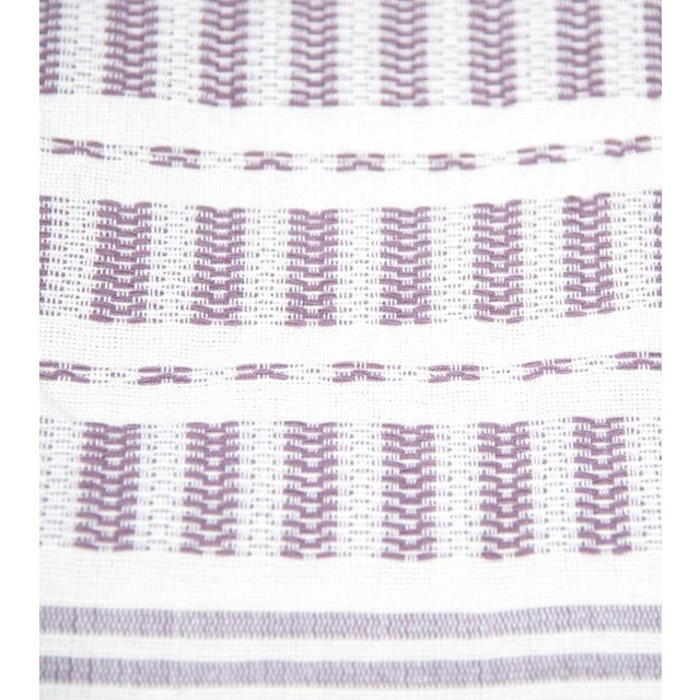 Mauve Handwoven Mexican Throw - Image 2 of 6
