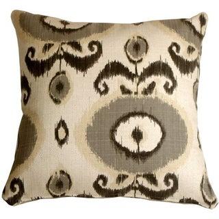 Pillow Decor - Bold Gray Ikat 20x20 Pillow