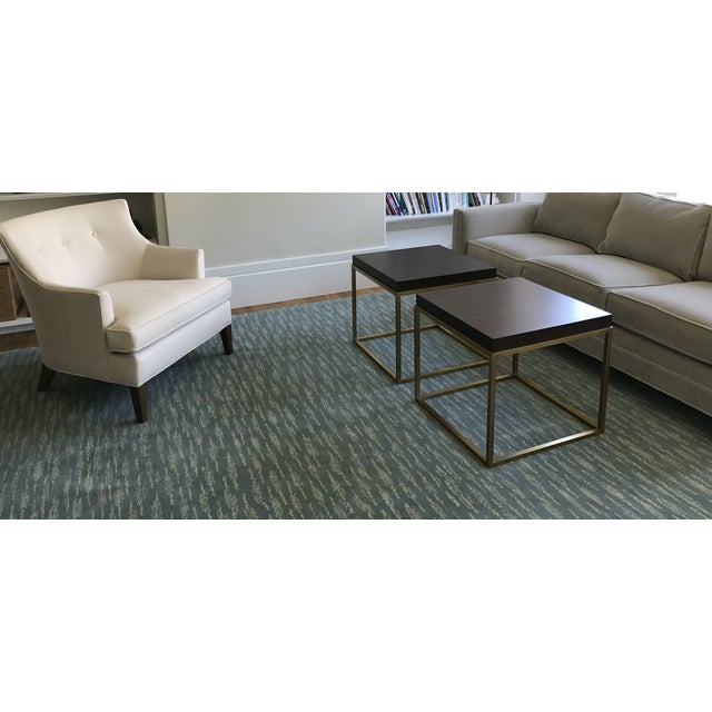 Hand Knotted Teal Contemporary Wool Rug - 9′10″ × 12′ - Image 2 of 5