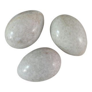 Gray & White Marble Eggs - Set of 3