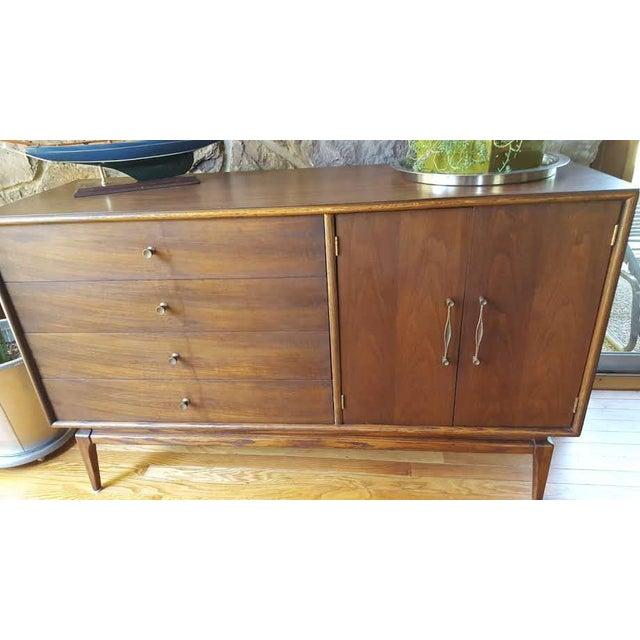 Vintage Mid Century Refinished Walnut Keller Furniture