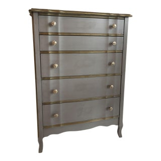 Vintage Silver French Chest of Drawers