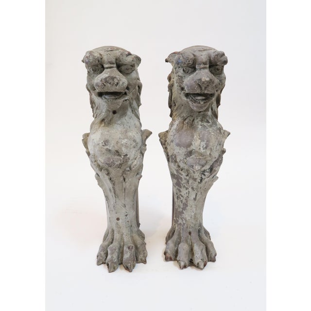 Lion Fireplace Bracket Molds - A Pair - Image 2 of 8