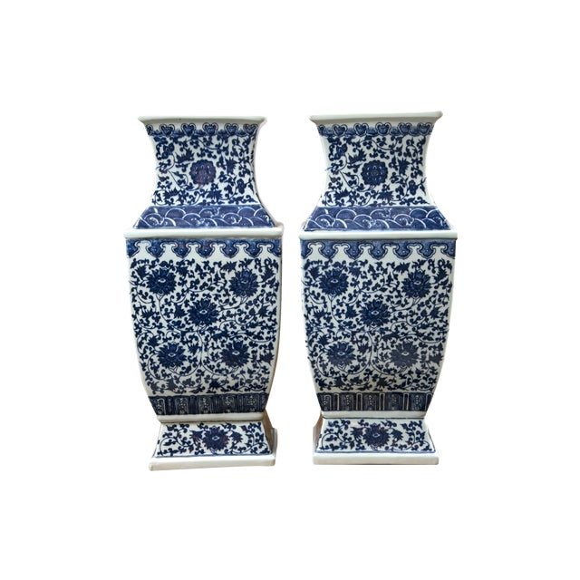 Blue & White Chinese Ginger Vases - A Pair - Image 1 of 7