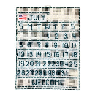 Handmade 'July' Wall Calendar