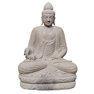 Stone Carved Sitting Buddha Figure