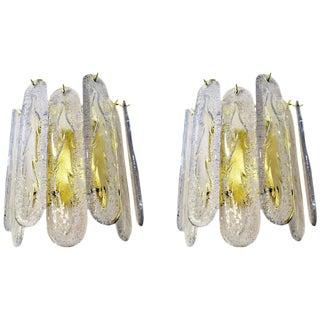 Pair of Mazzega Style Venini Sconces
