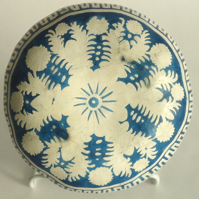 Folk Art Painted Gourd Bowl - Image 6 of 8