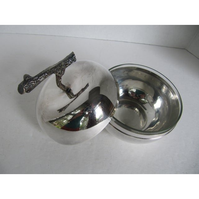 Image of Silver Plated Apple Bowl
