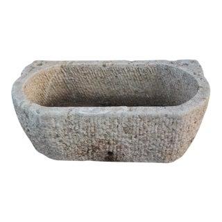 Rustic Stone Basin Planter
