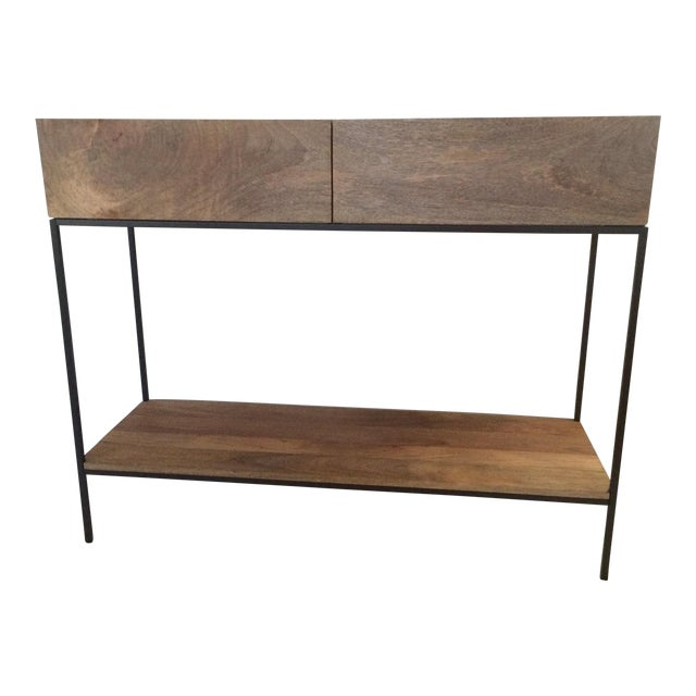 West Elm Rustic Storage Console - Image 1 of 5