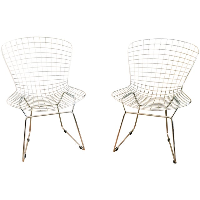 Bertoia Style Chairs - A Pair - Image 1 of 3