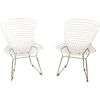 Bertoia Style Chairs - A Pair