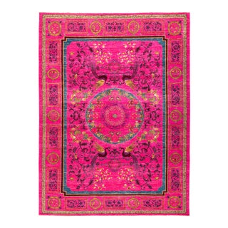 """Suzani Hand Knotted Area Rug - 9' 10"""" X 13' 2"""""""