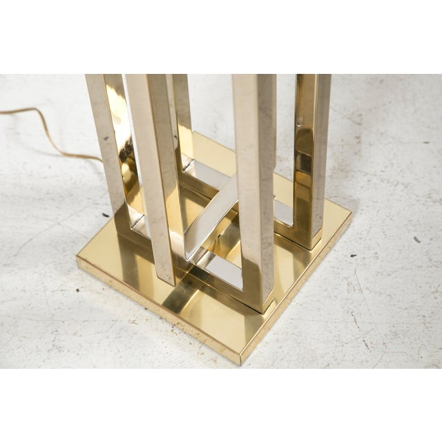 Milo Baughman Brass Deco Floor Lamp - Image 6 of 10