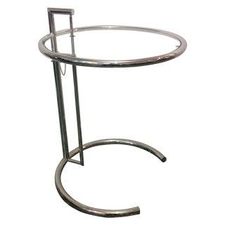 Eileen Gray Chrome & Glass Side Table