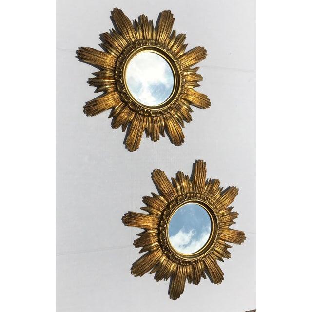 Italian Starburst Mirrors- A Pair - Image 4 of 8