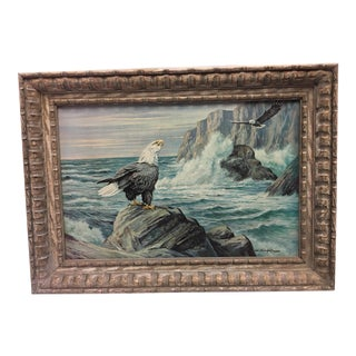 """""""Eagles at Seashore"""" Painting"""