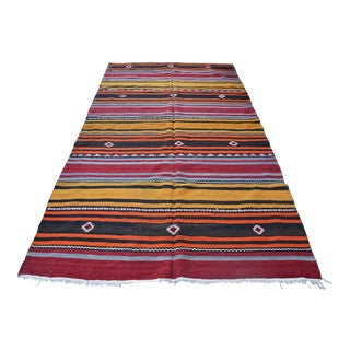 "Traditional Turkish Stripe Kilim - 6'1"" x 9'6"""