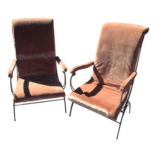 French Wire Chairs - Pair