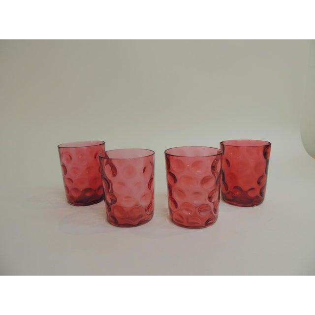 Antique Cranberry Reversed Tumblers - Set of 4 - Image 2 of 5