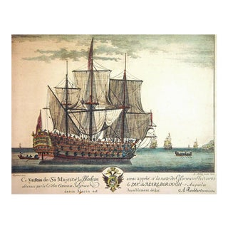 Engraving of H.M.S. Grande Bretagne by A. Roublard after Isaac Sailmaker