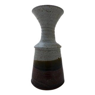 Mid-Century Modern Stoneware Studio Pottery Vase