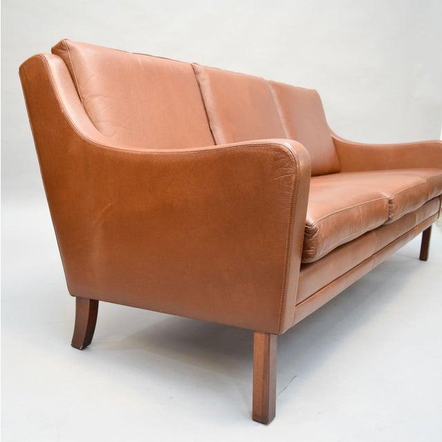 On Hold - Borge Mogensen Style Danish 3 Seater Leather Sofa - Image 4 of 10