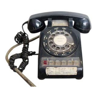 Vintage Western Electric Black Rotary Telephone