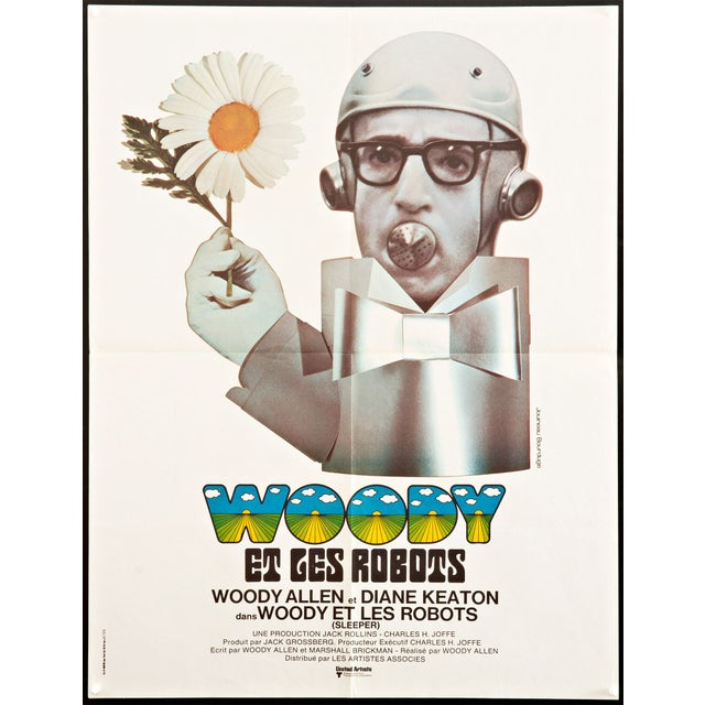 Image of Woody Allen 'Sleeper' French Film Poster