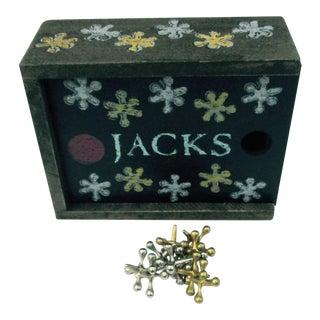 Vintage Toy Jacks & Box - Set of 11