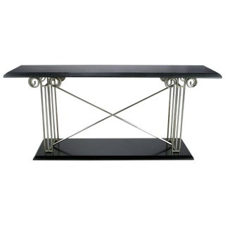Milo Baughman Postmodernist Ionic Columns Console Table