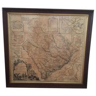 Antique Framed Province of South Carolina Map