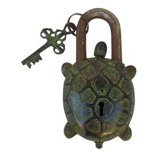 Bronze Turtle Mystery Padlock