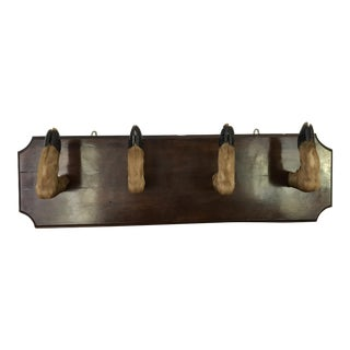 Vintage Wall Mount Deer Hoof Coat Rack