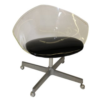 Mid Century Modern Jansko Lucite and Vinyl Chair
