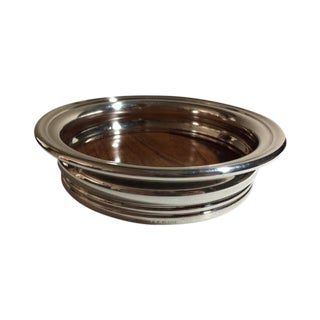Retro Silver & Formica Wine Bottle Coaster